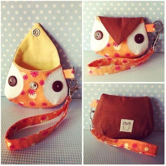Owl coin purse. - Click image to find more diy & crafts Pinterest pins