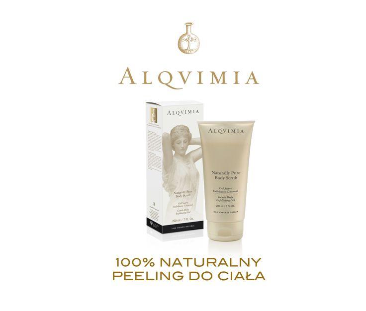 Peeling do ciała Alqvimia Pure Body Scrub Prezentujemy nowy peeling do ciała ALQVIMIA, Naturally Pure Body Scrub wykonany w 100% na bazie składników naturalnych, jak zmielona łupina orzecha włoskiego i kokosowego. Żel ...