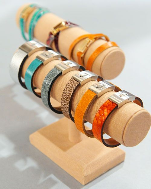 DIY Leather Cuff Bracelets....I would try using leather from skinny belts and skip a bunch of these steps