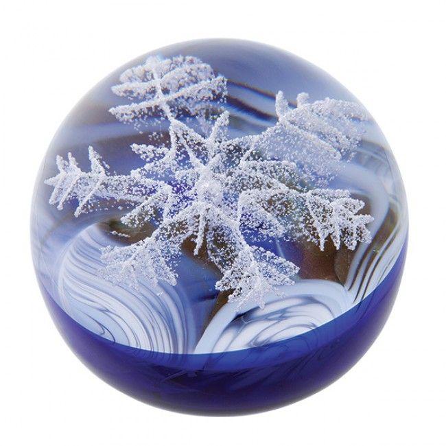 Seasons - Winter  Paperweight - Caithness Glass