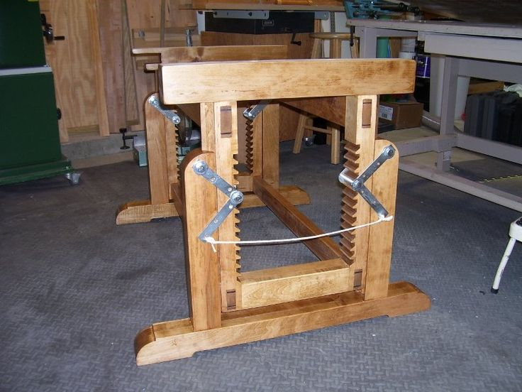 Adjustable Height Workbench Lenny Lumberjocks Work Bench ...