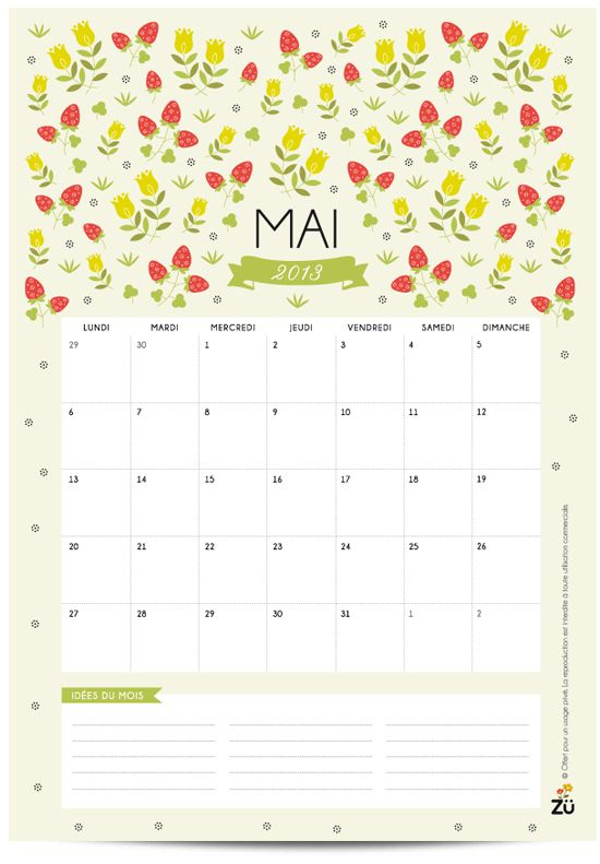 Calendar Mai : Calendrier diy mai beautiful calendar and