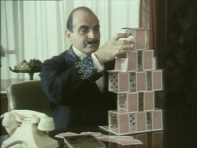 Hercule Poirot -awesome geek who knew how to use the little grey cells!