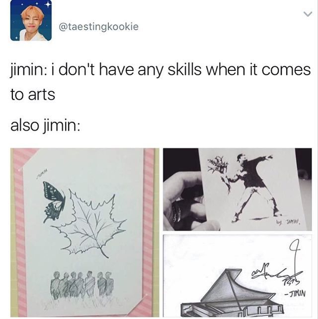Jimin doesn't even realize how perfect he is