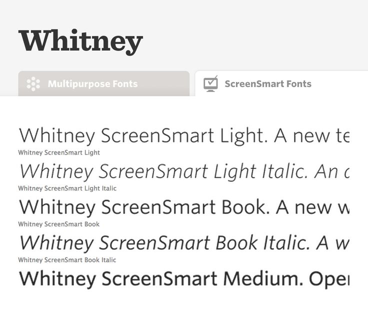whitney condensed book font