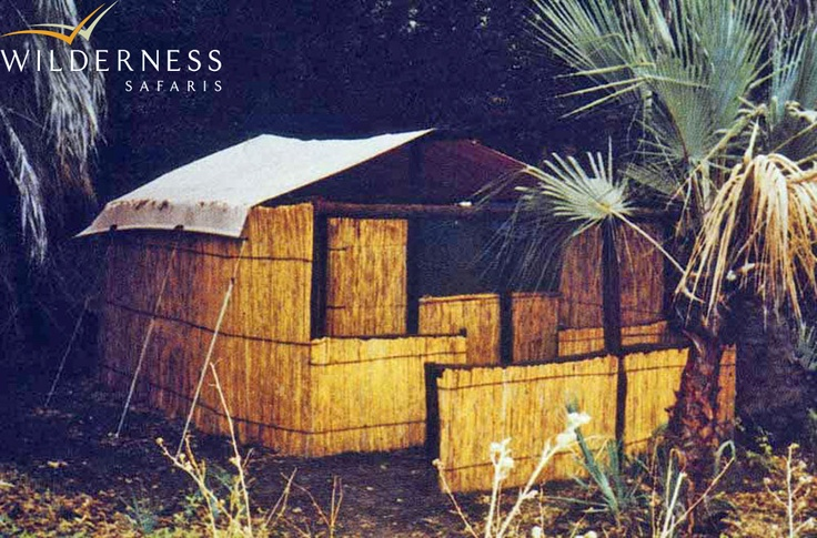Humble beginnings – First camp at Xigera. Click on the image for the full story.