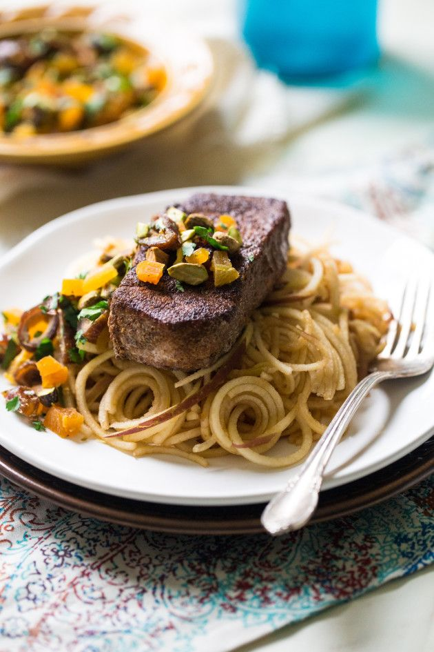 Moroccan-Style Pork with Apple Noodles Image / use chicken or tofu