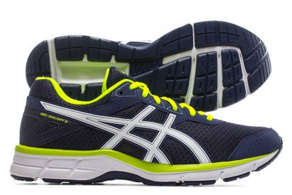ASICS Gel Galaxy 9 Running Shoes Get the same level of performance in the last mile as you do in the first with these Gel Galaxy 9 Running Shoes in Indigo Blue, White and Safety Yellow from Asics.The Gel Galaxy 9 come with everything http://www.MightGet.com/february-2017-2/asics-gel-galaxy-9-running-shoes.asp