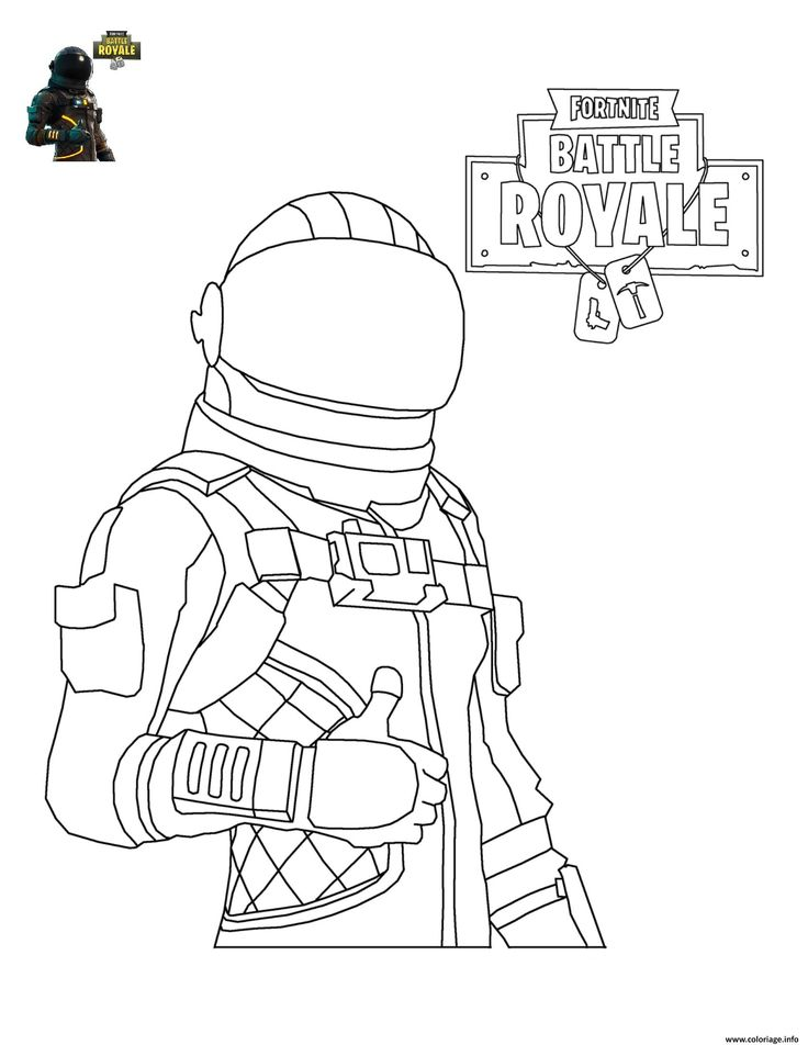 coloriage fortnite battle royale personnage 4 à imprimer