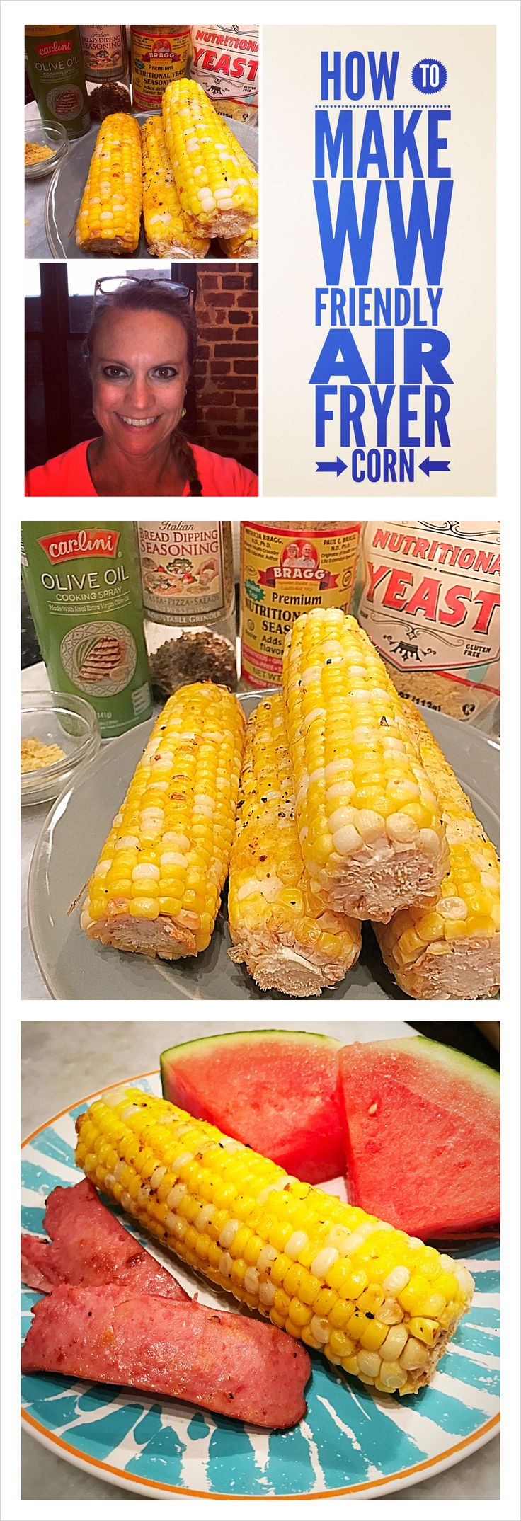 Learn how I make Air Fryer Corn in my Power Air Fryer XL.  Super easy.  8 minutes.  Only 4 Smart Points! View the video here: https://youtu.be/uA0taT8W3J0  Remember to Like, Share, Comment & Subscribe so I can keep making these Weight Watchers friendly videos.  Thanks for watching and for more information and recipes visit my blog: www.ifyouhaveanegg.com ****************