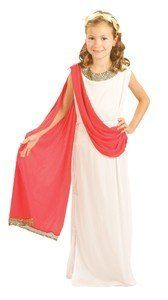 New Roman Greek Dess Children S Fancy Dress Costume Age 7 9 Years