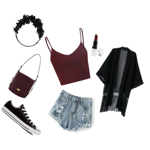 Comfortable outfit for summer by sostudd on Polyvore featuring Glamorous, Converse, Mulberry, yunotme and Barry M