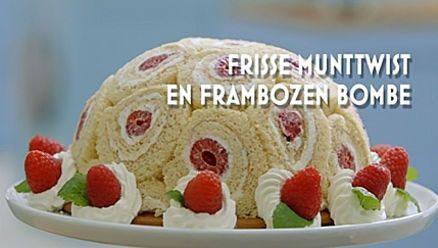Heel Holland Bakt: Frisse munttwist en frambozen bombe