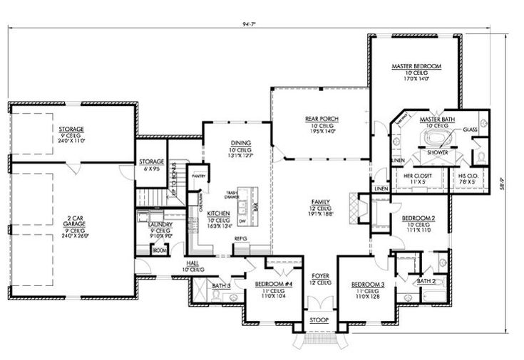 Love the open floorplan and the master bath layout for House plans with guest suite