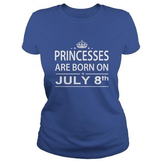 Cool 0708 July 8 Birthday princess born Shirts T Shirt Hoodie Shirt VNeck Shirt Sweat Shirt Youth Tee for Girl and Men and Family T shirts