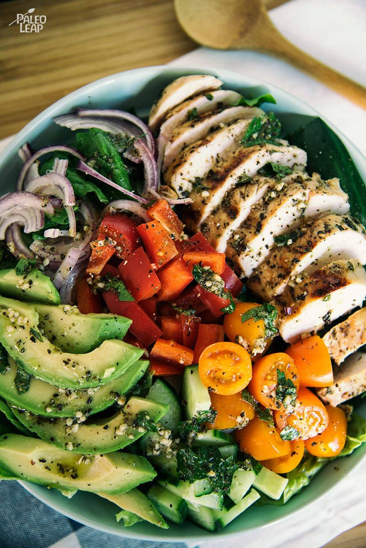 Chicken Salad with Herb Dressing #Paleo #GlutenFree