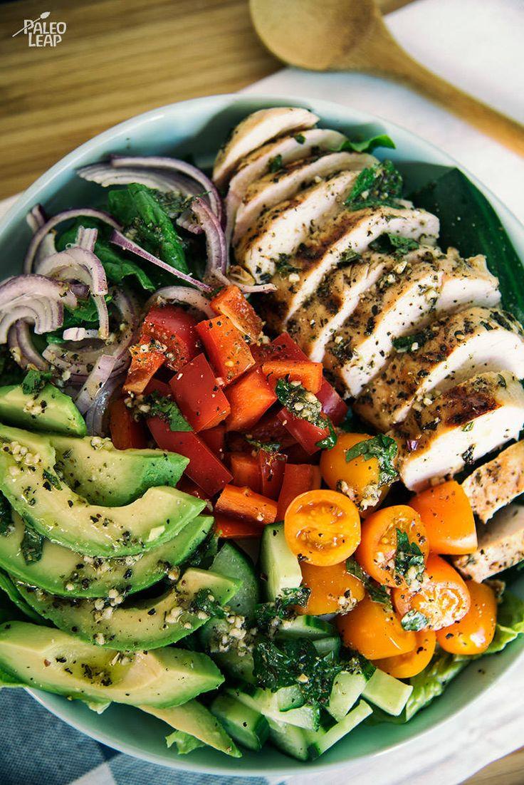 Chicken Salad with Herb Dressing #Paleo #GlutenFree