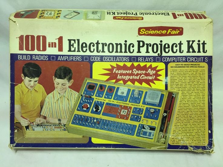 Vintage 100 in 1 Electronic Project Kit from Science Fair Tandy Corp No 28 220 | eBay