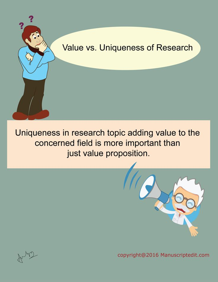 #Manuscriptedit @ Value vs. Uniqueness of #Research :  Uniqueness in #research topic adding value to the concerned field is more important than just value proposition.   #Manuscriptedit #blogpost : http://bit.ly/1XVzYMw