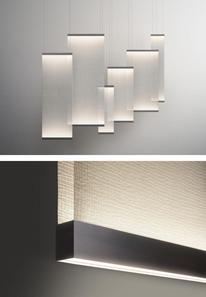 LED fabric pendant #lamp CURTAIN by Vibia | #design Arik Levy @vibialight