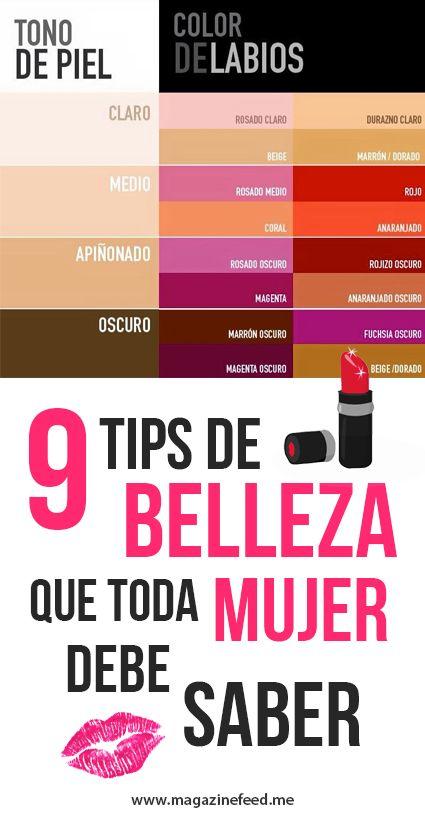 9 Tips De Belleza Que Toda Chica Debe Saber
