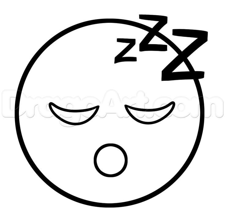 We obviously use this Emoji when we are chatting to show that we are tired, sleeping or even bored. Description from dragoart.com. I searched for this on bing.com/images