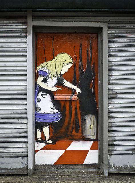 Mission district San Francisco Alice in Wonderland street art. @designerwallace