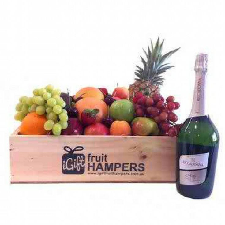 RICCADONNA FRUIT GIFT HAMPER  Sparkling Sweet Moscato Bianco  First created in northern Italy in 1921, Riccadonna is a firm favourite of Australian sweet wine lovers. Fragrant and fruity with just the right touch of sweetness, this lively Asti wine is suitable for all occasions. Best for Father's Day gift. free shipping Australia.   #fruit #box #gifts #fathersday  #giftbasketsmelbourne #giftbasketsaustralia #fruit #box #gifts #sympathy #birthday #anniversary #getwell #gifts #occasions…