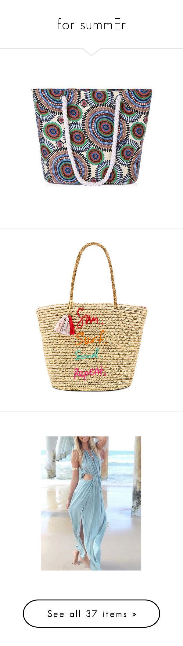 """""""for summEr"""" by ilze-s ❤ liked on Polyvore featuring bags, handbags, shoulder bags, sammydress, colorful purses, multi color purse, multi color handbag, colorful handbags, multi colored purses and tote bags"""