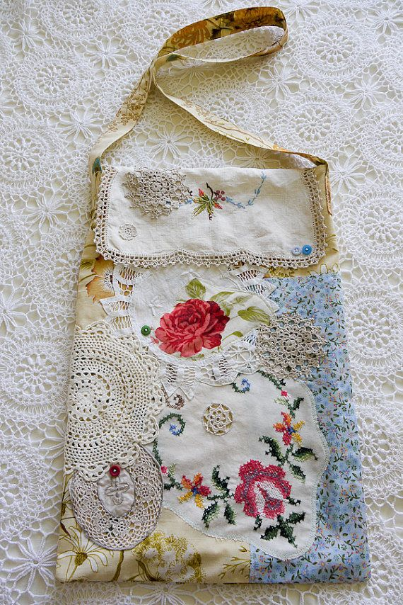 Floral Doily Market Bag by nomadictara on Etsy, $70.00