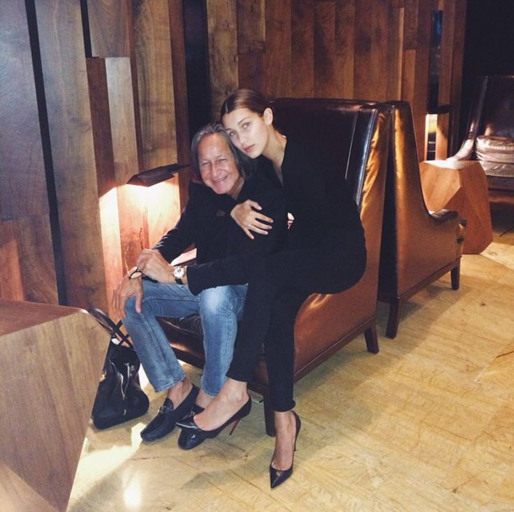 Mohammed Hadid with his youngest daughter Bella Hadid