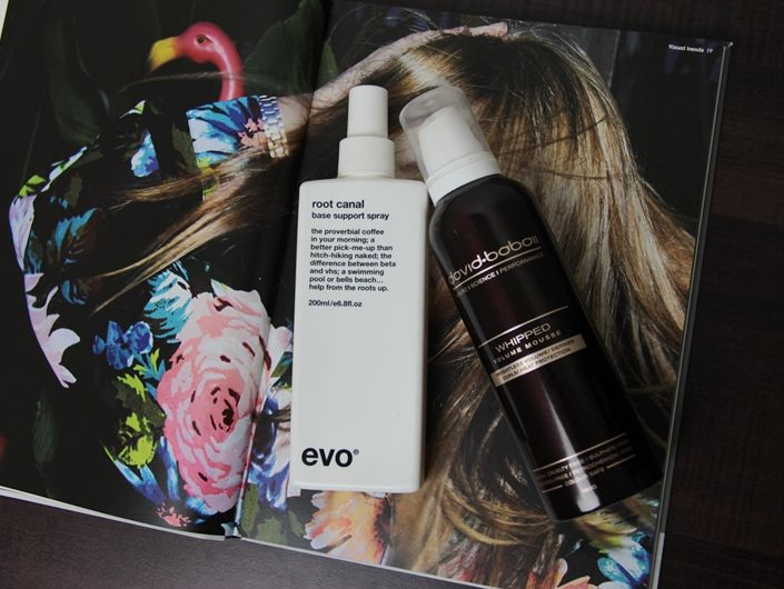 evo Root Canal and David Babaii whipped volume mousse
