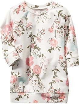 Floral Sweatshirt Dresses for Baby | Old Navy