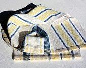Handwoven Scandinavian Rackel Dishtowel, Hand Hemmed with hanging loop