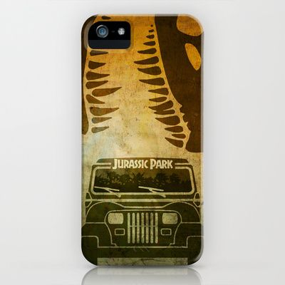 Jurassic Park Minimalist Poster iPhone & iPod Case by Ed Burczyk - $35.00