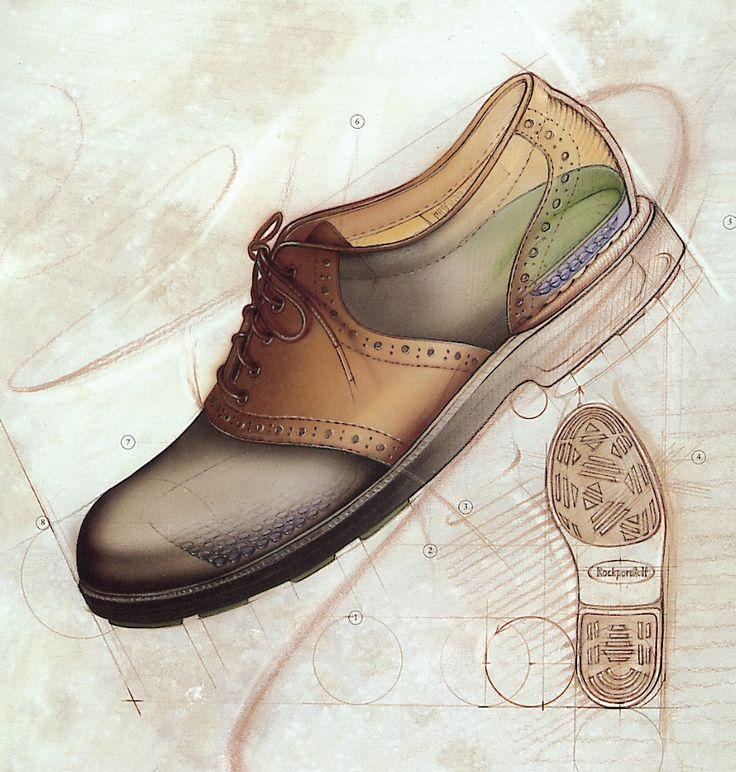 Bonnie Hofkin Technical Drawing Men's Shoe