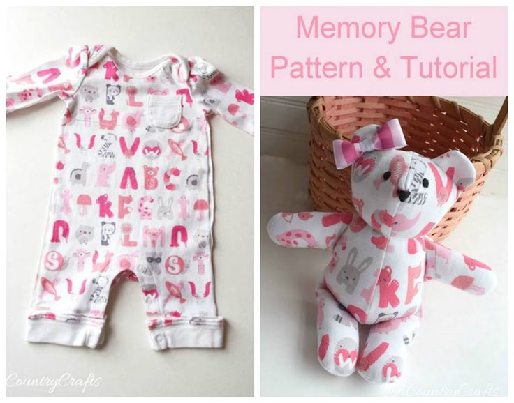 Bear from your baby's favorite onesies or other clothes!