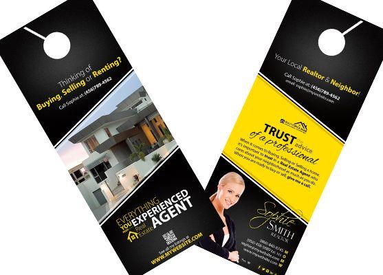 Delightful Real Estate Door Hangers | Creative Real Estate Door Hanger Template |  Modern Door Hangers |