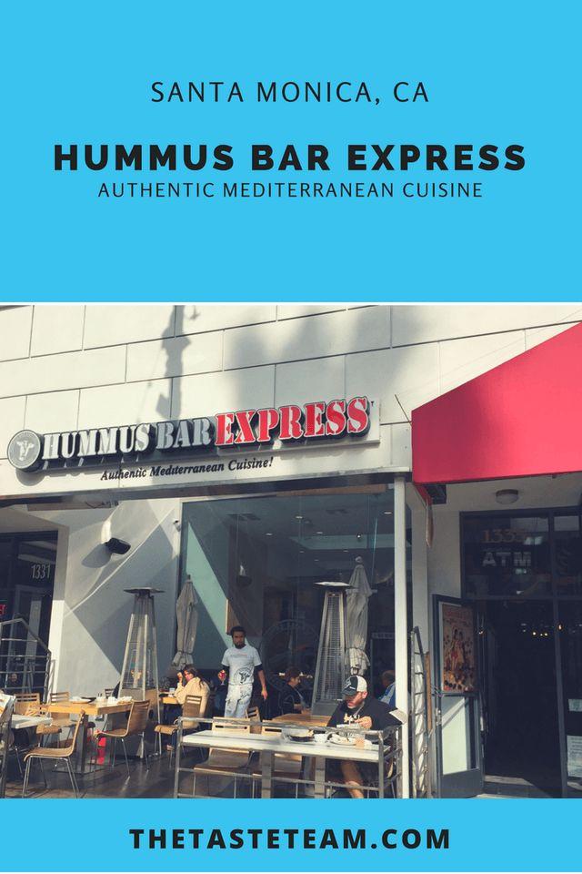 Hummus Bar Express Authentic American Cuisine Santa Monica, CA