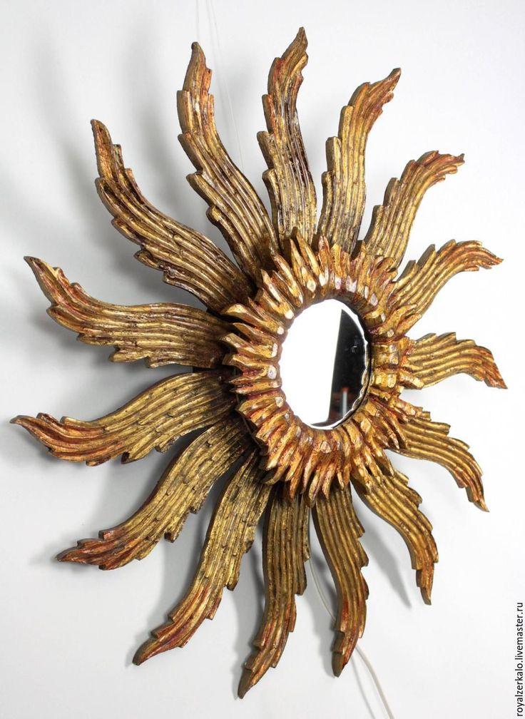 Купить Зеркало солнце Altair в стиле французского Барокко - зеркало, зеркало настенное