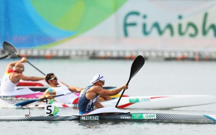 Liam Heath of Great Britain wins the gold medal in the Men's Kayak Single 200m…
