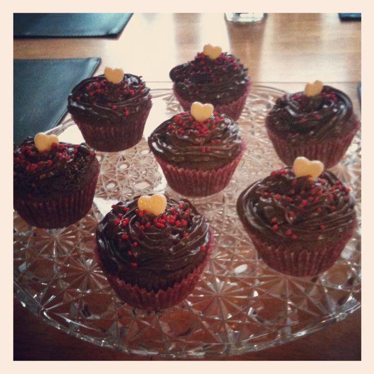 Cupcakes till alla hjärtans dag