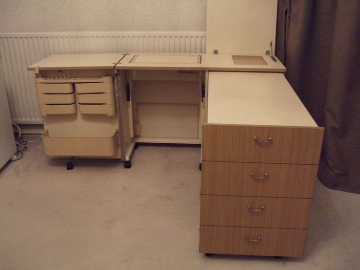 large horn sewing quilting overlocker cabinet in oak storage