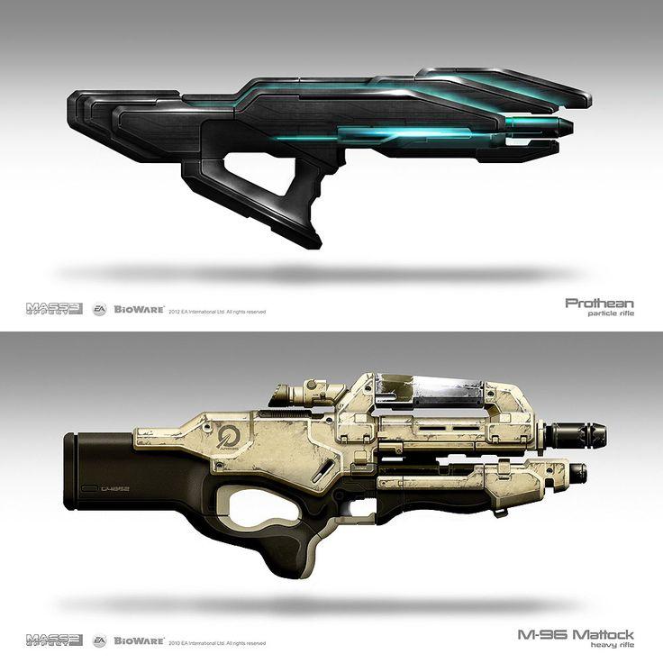 Weapon Concepts – Mass Effect 3    Brian Sum   (Videogame-art.2012)