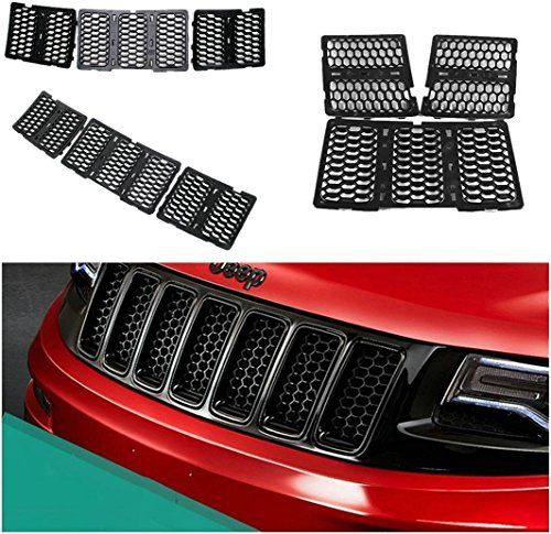 27 best truck makeover images on pinterest van jeep and jeep jeep danti latest honeycomb matte mesh front grill grille inserts cover kit 7 pc for jeep grand fandeluxe Images