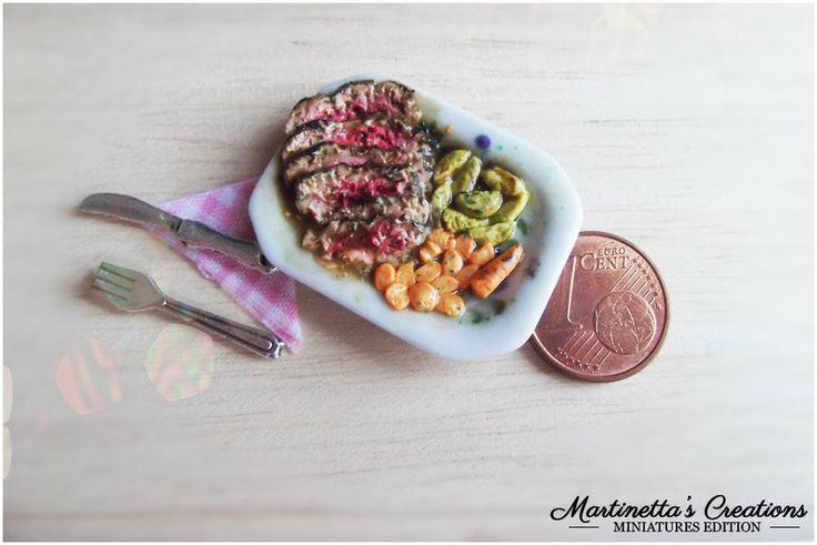 Martinetta's Creations: Miniatura scala 1:12 Roast Beef