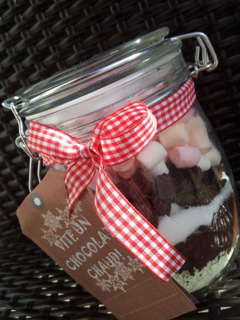 Bocaux de chocolat chaud au marshmallow *Cadeau gourmand*