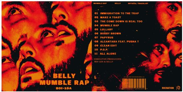 BELLY RELEASES NEW TAPE MUMBLE RAP