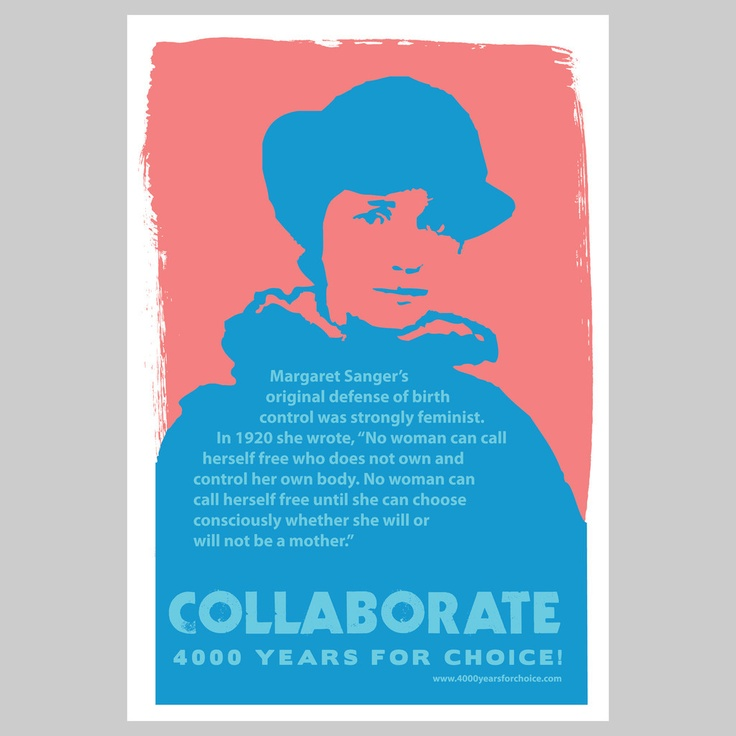 """""""Margaret Sanger's original defense of birth control was strongly feminist. In 1920 she wrote, """"No woman can call herself free who does not own and control her own body. No woman can call herself free until she can choose consciously whether she will or will not be a mother."""" #choice #abortion #feminism"""