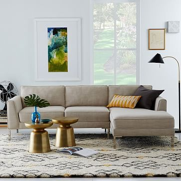 Marco 2-Piece Chaise Sectional #westelm rumpus room in eucalyptus!